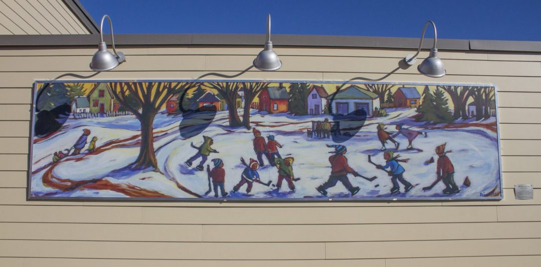 A. Tim Horton's Hockey Meet me in the Park Mural