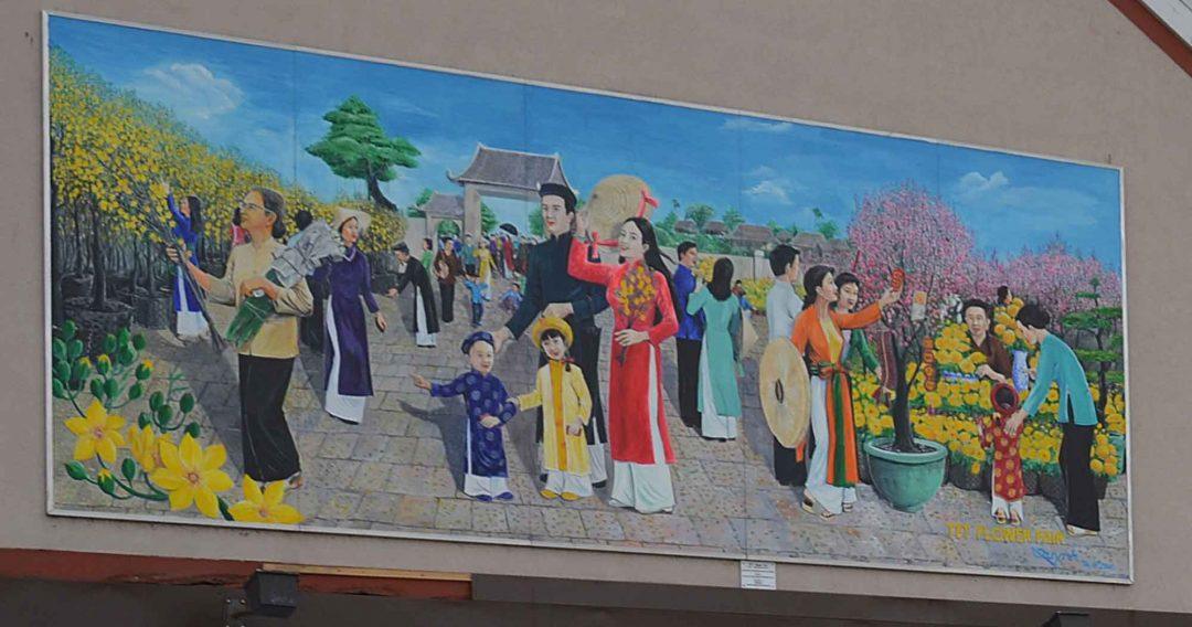 A. Tet Flower Fair Mural