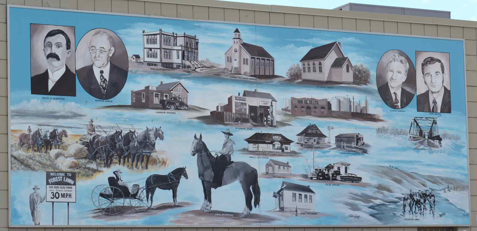 A. Town of Forest Lawn Mural