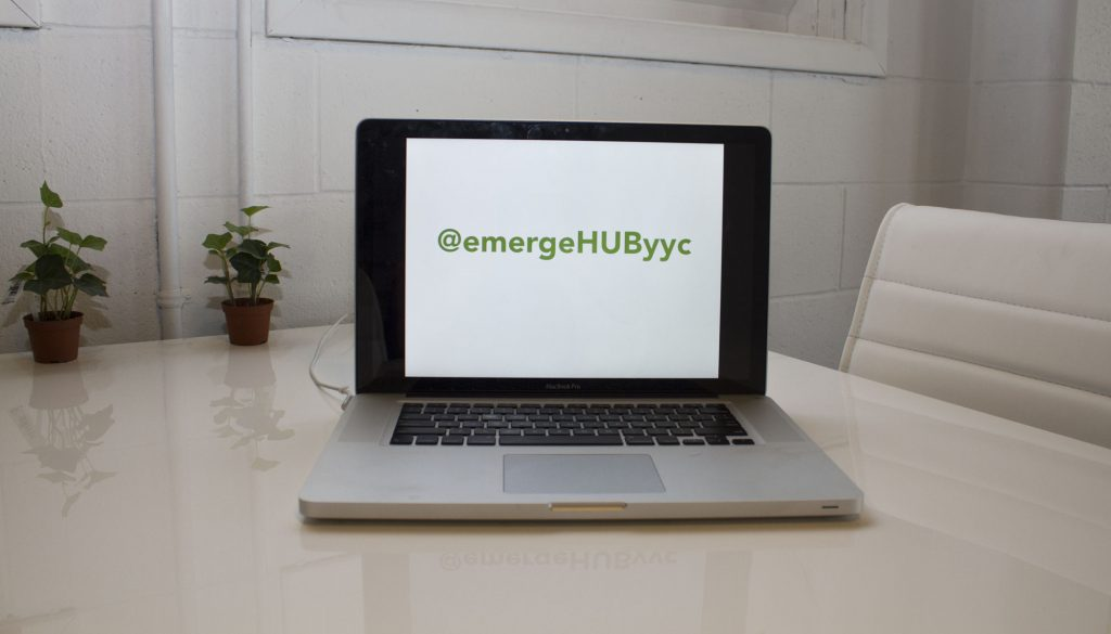 20170613 - emergeHUByyc Social Handle Laptop