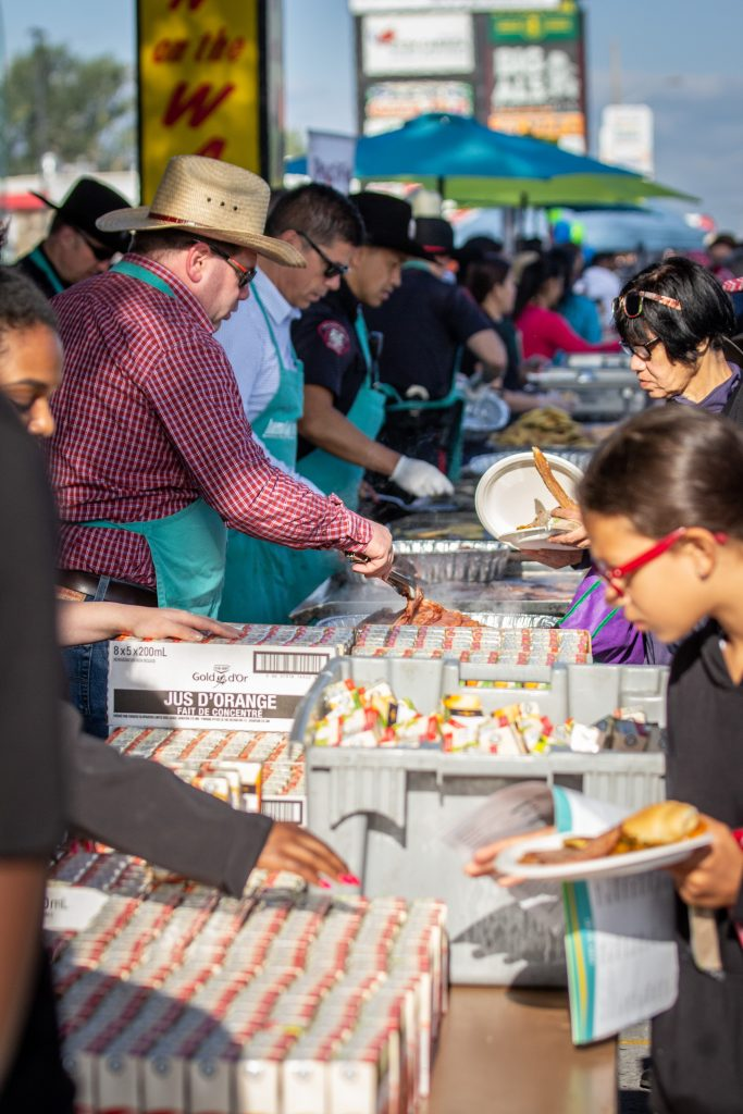 A. Best of the East Stampede Breakfast - Serving Food