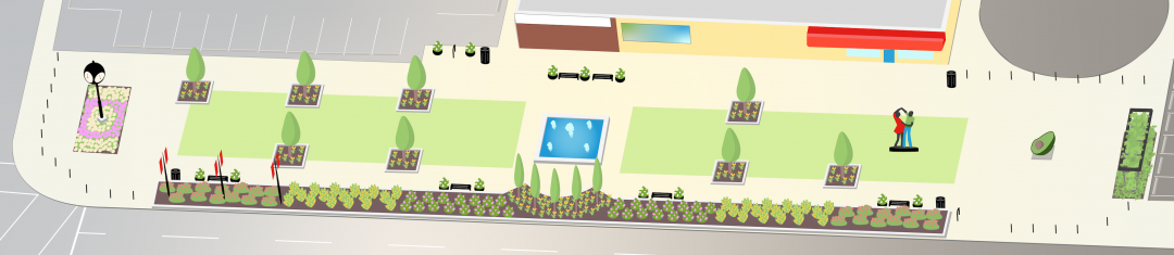 An illustration of our beautiful Unity Park on International Avenue, 3111 17 Ave SE, Calgary